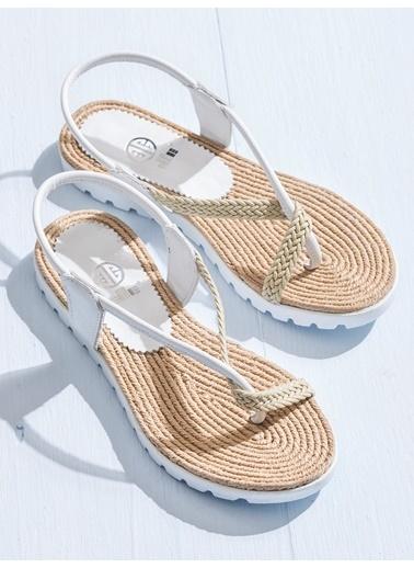 Elle Sandalet Beyaz